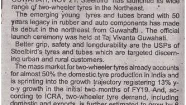 Steelbird Launches 2-Wheeler Tyres In Guwahati