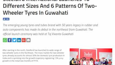 Steelbird International Launches 10 Different Sizes And 6 Patterns Of Two-Wheeler Tyres In Guwahati