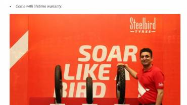 Steelbird Launches New Range Of Two-Wheeler Tyres