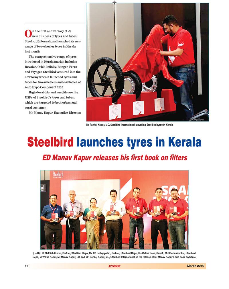 Steelbird Launches Tyres in Kerala