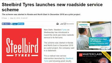 Steelbird Tyres Launches new roadside service scheme
