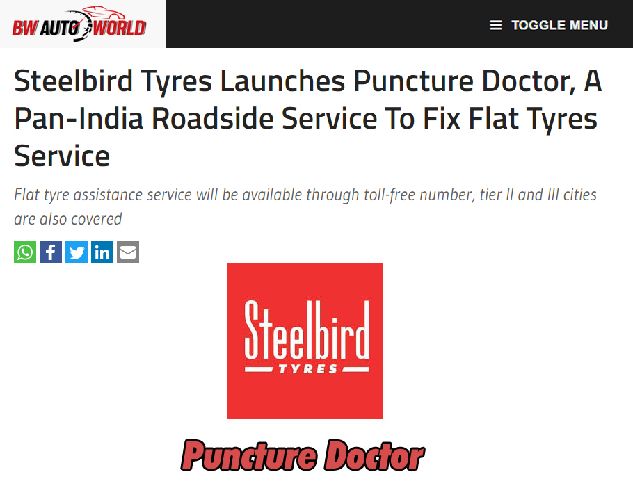 Steelbird Tyres Launches Puncture Doctor, A Pan-India Roadside Service To Fix Flat Tyres Service