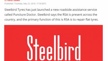 Steelbird Tyres Launches Puncture RSA Across India – Fix Your Flat With Ease