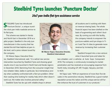 Launch of Puncture Doctor The Tyre Assistance Service