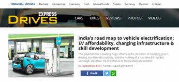 India's road map to vehicle electrification: EV affordability, charging infrastructure & skill development